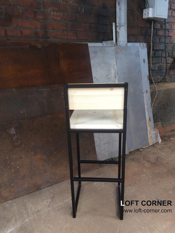 Барный стул Light back, барная мебель лофт, мебель кафе, мебель для ресторанов, мебель лофт на заказ
