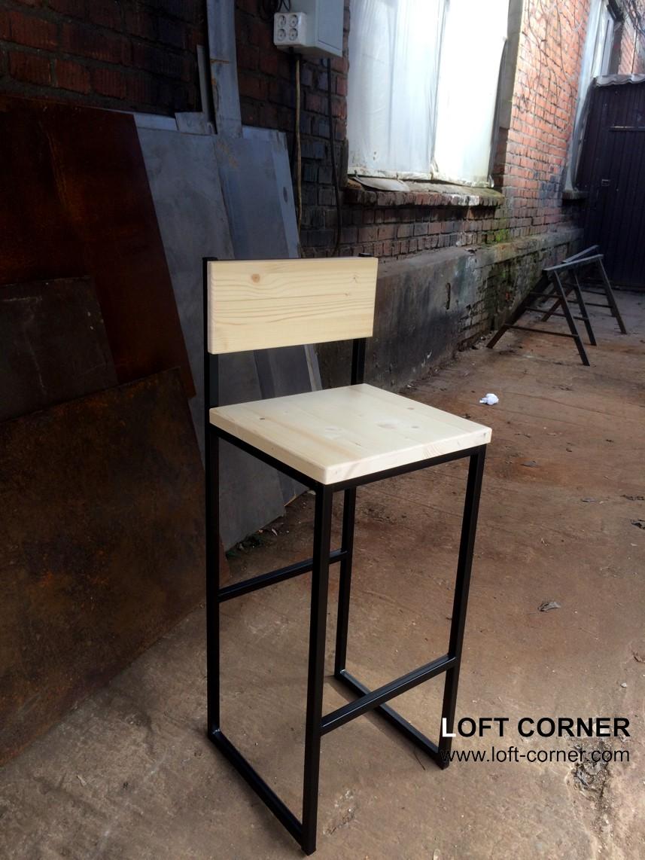 Барный стул со спинкой в стиле лофт, мебель для ресторанов, барная мебель лофт, мебель кафе в стиле