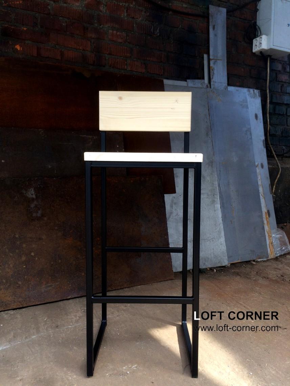 Стул барный в стиле лофт от LOFT CORNER, мебель лофт производство, барная мебель, мебель для рестора