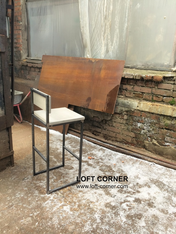 Стул в стиле лофт, высокий стул, барный стул лофт, мебель бар, ресторан мебель, кафе мебель, стул ea