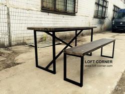 Стол лофт, мебель лофт, мебель для ресторанов, мебель кафе, барная мебель, мебель для хостела лофт,
