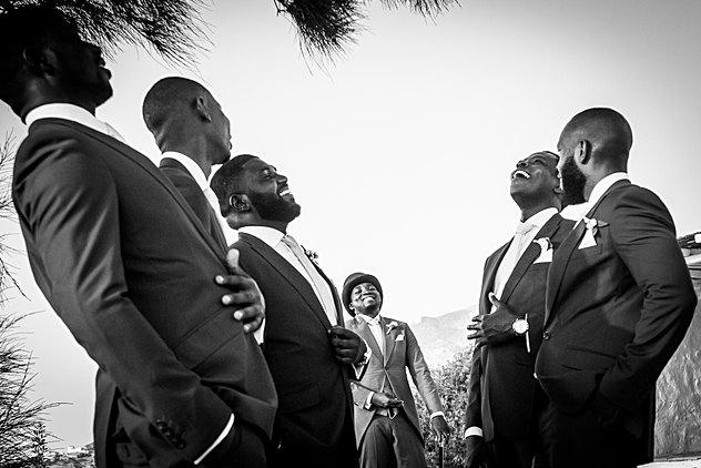 Nigerian Groom on a Destination wedding in Greece