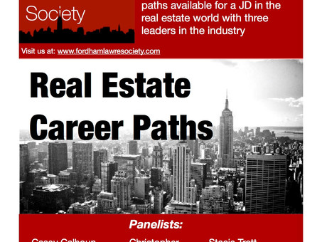 Real Estate Career Paths Event (10/17/2017)