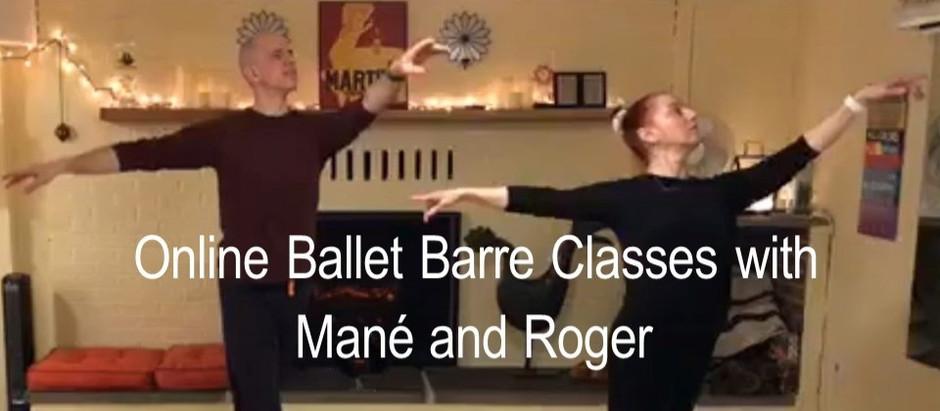 Our Online Ballet Barre classes continue!