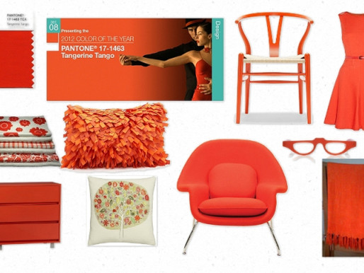 "2012 Pantone's Color of the Year is here! It is called ""Tangerine Tango."""
