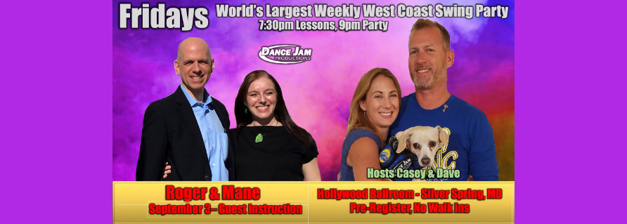 Tonight, Sept. 3, WCS at Hollywood Ballroom! Saturday, Sept. 4, 2021 WCS International Flashmob!