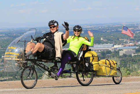 Dr. Roseann Mooney a female dentist of Boise, Idaho rode x-country to raise money for Wounded Warriors.