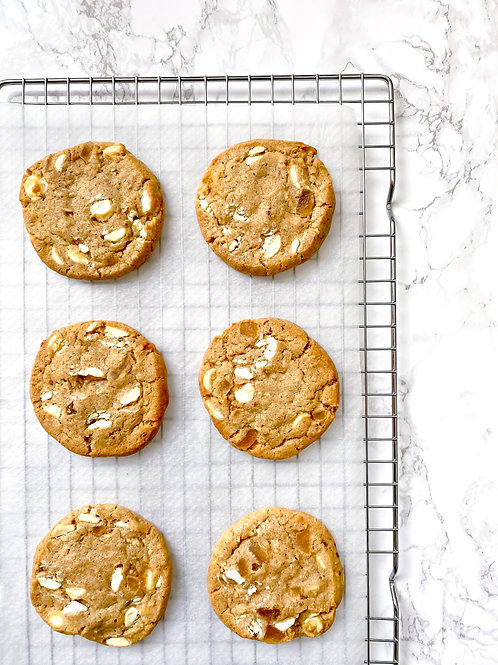 White Chocolate, Mixed Spice & Candied Ginger Cookie Dough - makes 10-12