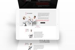 Website Interface Karate