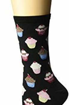 HOT SOX CUPCAKES WOMEN'S CREW