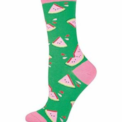 SOCKSMITH JUICY WATERMELON WOMEN'S CREW