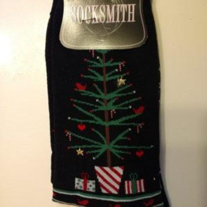 SOCKSMITH FEATHER CHRISTMAS TREE WOMEN'S CREW