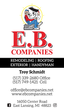 EB Companies Business Card Front