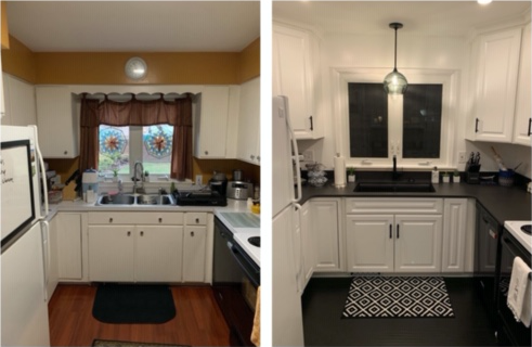 Kitchen Before and After 1