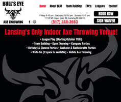 Bull's Eye Axe Throwing Website