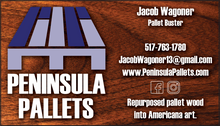 Peninsula Pallets Business Card