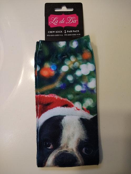 LA DE DA CHRISTMAS DOG WOMEN'S CREW