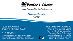 Boater's Choice Business Card Front