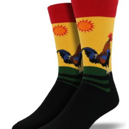 SOCKSMITH EARLY RISER ROOSTER CREW