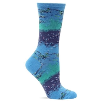 HOT SOX MONET'S WATERLILIES WOMEN'S CREW