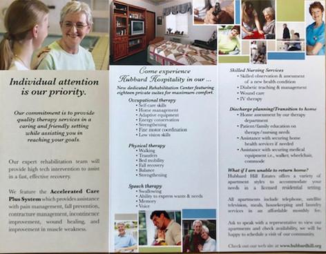 Hubbard Hill Retirement Brochure Interior