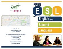 South Church ESL Brochure Front