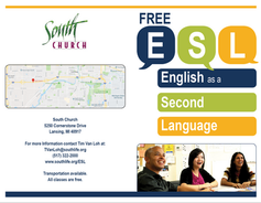 South Church ESL Brochure Front