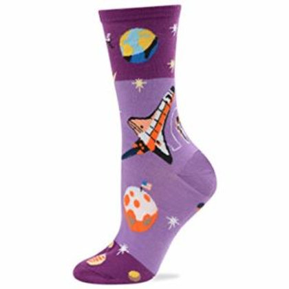 HOT SOX ROCKET AND PLANETS WOMEN'S CREW