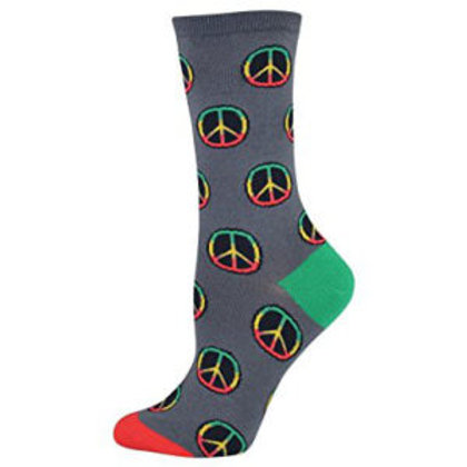SOCKSMITH PEACE SIGN MEN'S CREW