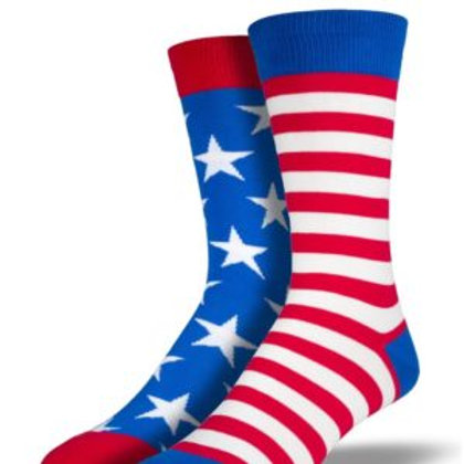 SOCKSMITH AMERICAN FLAG MEN'S CREW