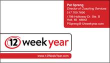 12 Week Year Business Card