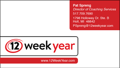 12 Week Year Business Card
