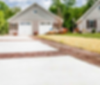 Stamped and standard concrete driveway