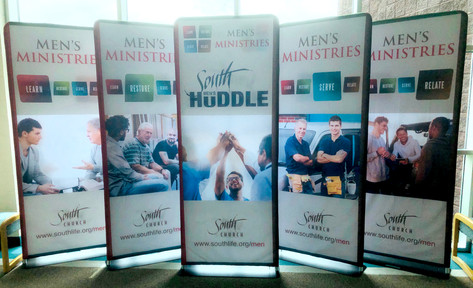 South Church 2-sided Fabric Banners