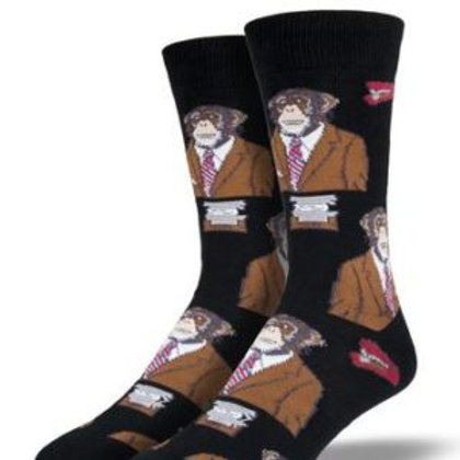SOCKSMITH MONKEY BIZ MEN'S CREW