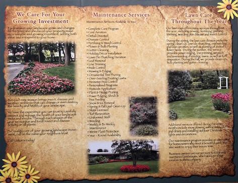 Linton's Enchanted Gardens Brochure Interior