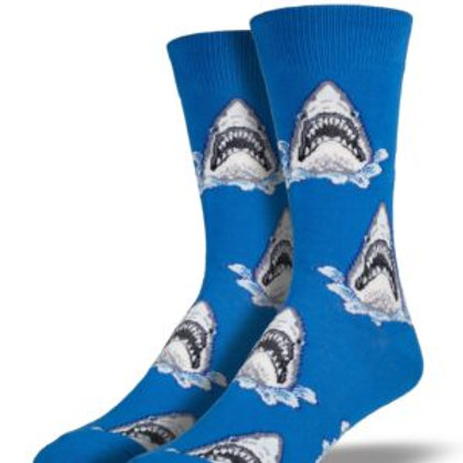 SOCK SMITH SHARK ATTACK MEN'S CREW