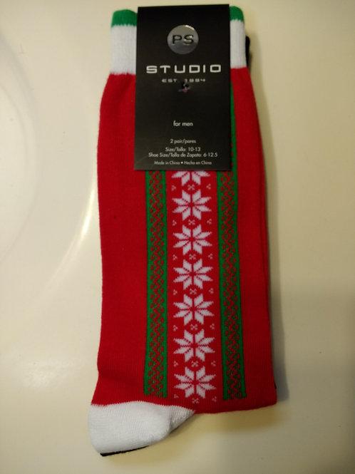 P.S. STUDIO 2-PACK CHRISTMAS MEN'S CREW