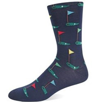HOT SOX MEN'S PUTTING GREENS SOCKS