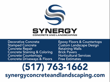 Synergy Concrete and Landscaping Yard Sign