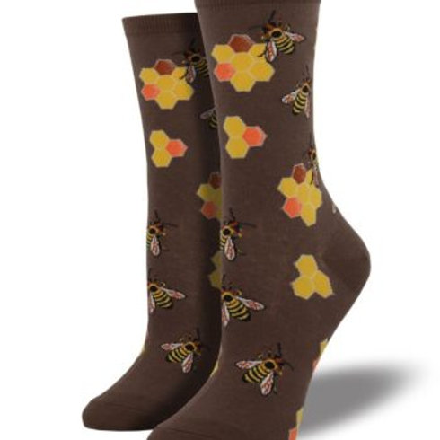 SOCKSMITH BUSY BEES WOMEN'S CREW