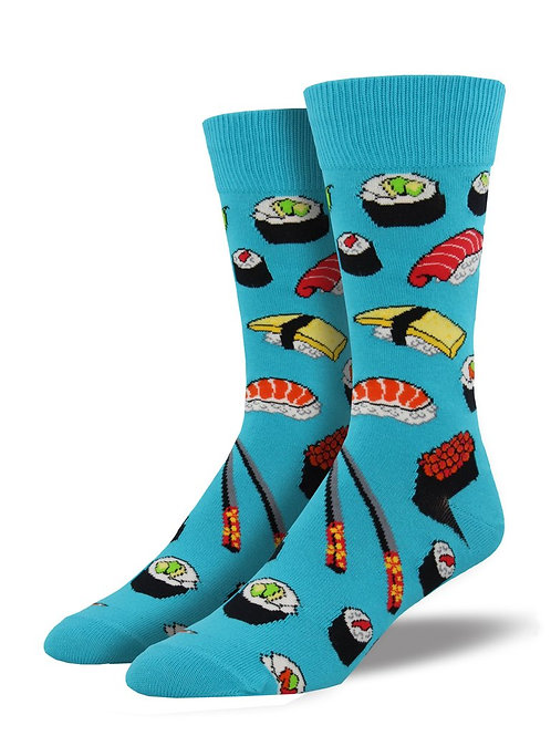 SOCKSMITH SUSHI AND CHOPSTICKS MEN'S CREW