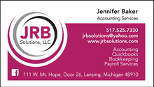 JRB Solutions Business Card Front