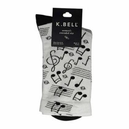 K. BELL MUSICAL NOTES WOMEN'S CREW