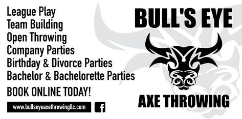 Bull's Eye Axe Throwing 3'x6' Banner