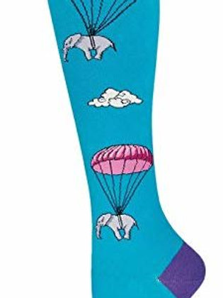SOCKSMITH PARACHUTING ELEPHANTS KNEE HIGH SOCK