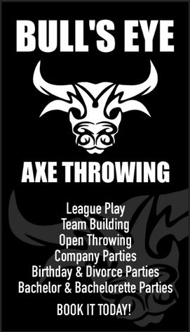 Bull's Eye Axe Throwing Business Card Back