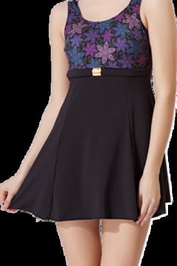 Tokalı Elbiseli Desenli Garnili