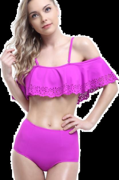 Lazerli Volanlı Bikini