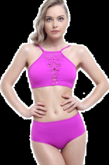 Tüllü Detaylı Yüksek Bel Bikini